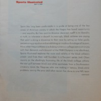 """""""The Black Athlete"""" Prologue, page 12. SI 7/1/1968<br /><br />"""